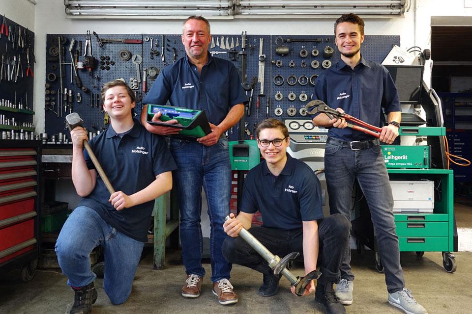 Team von Auto-Holzinger Memminger KFZ-Werkstatt und Meisterbetrieb